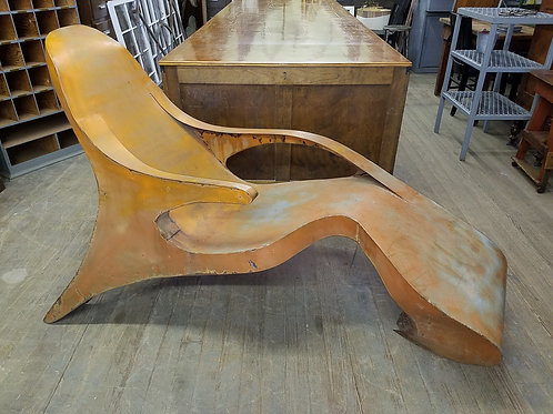 1960's Modern Art Metal Chaise Lounge
