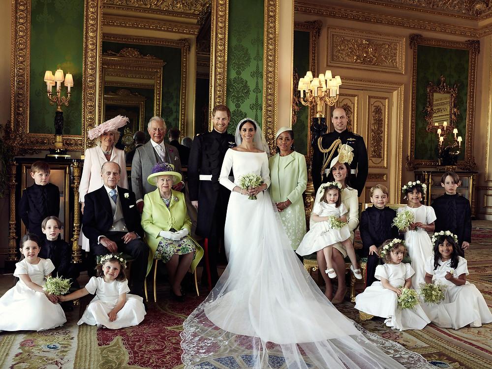 Prince Harry and Meghan Markle Royal Wedding Family Portrait