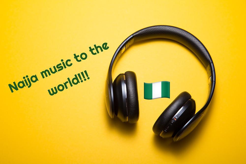 Headphones. Nigerian music. Afrobeats.