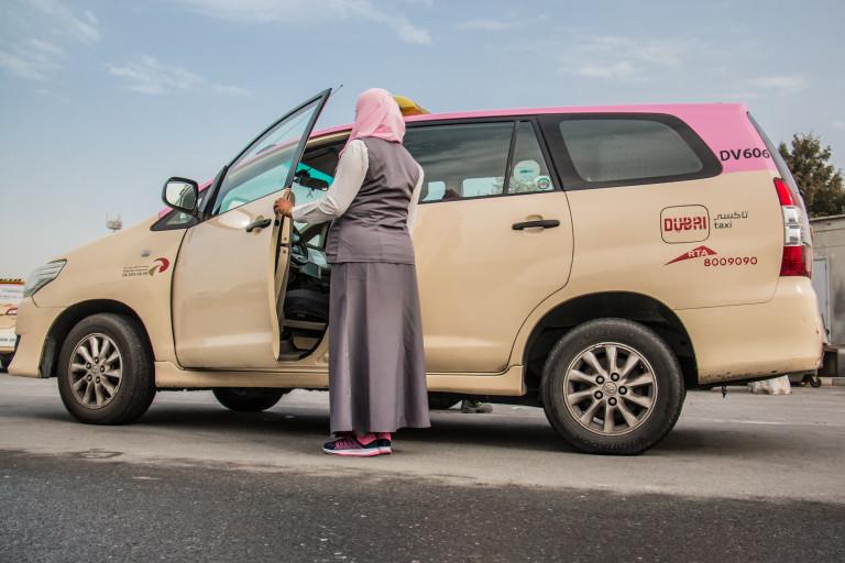 Dubai lady taxi