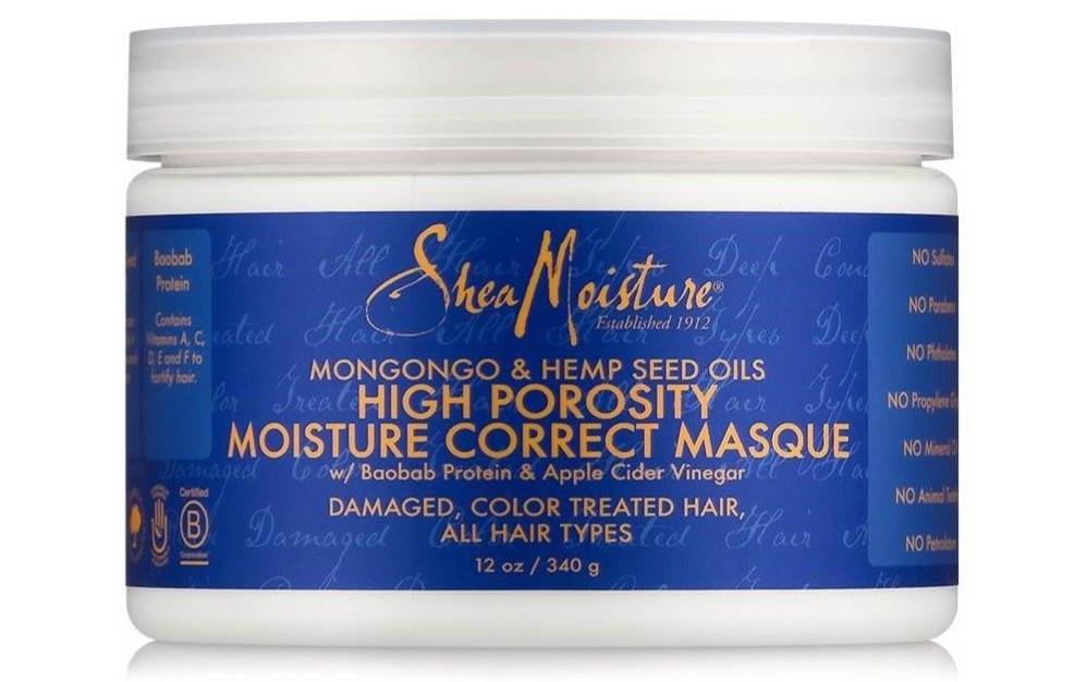 Shea Moisture Mangongo & Hemp Seed Oil High Porosity Moisture Correct Masque