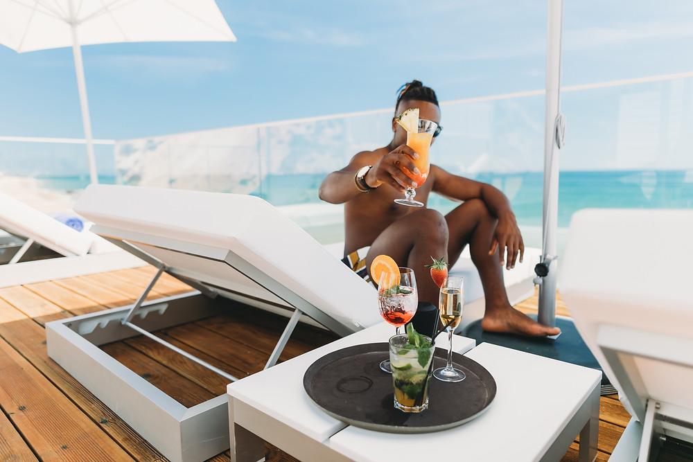 Cocktails & good weather, black boy joy!