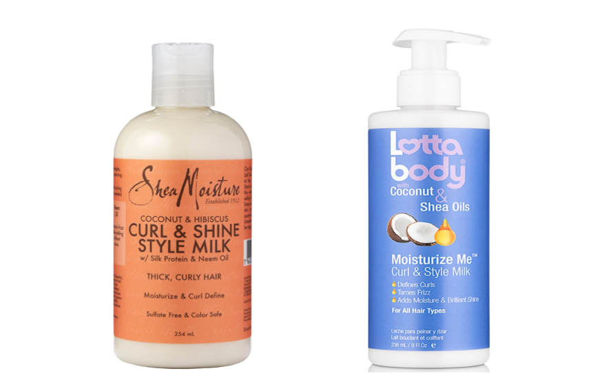 Shea Moisture Coconut & Hibiscus Curl & Style Milk and Lotta Body Moisturize Me Curl & Style Milk