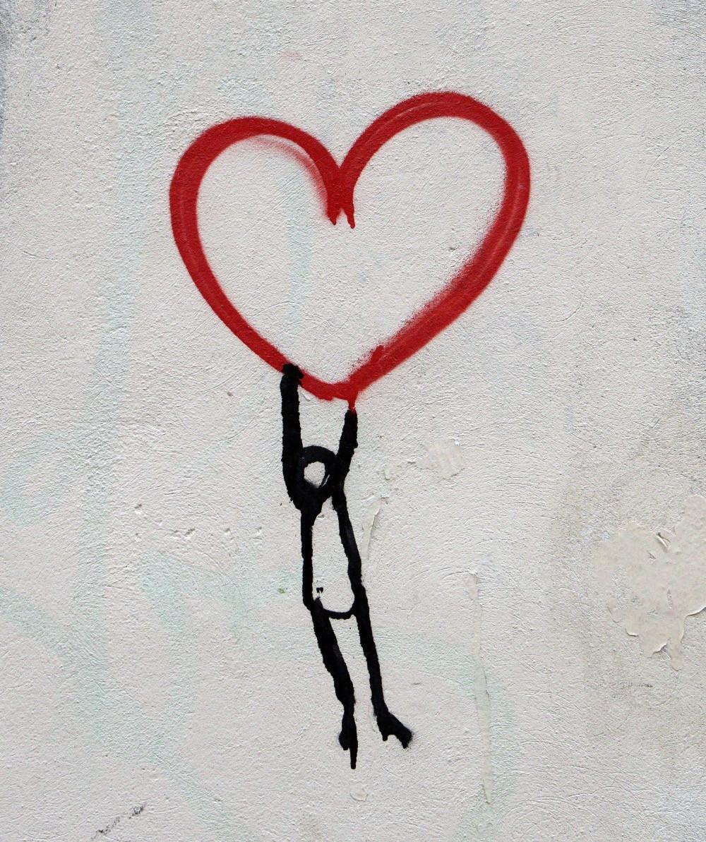 Self love. Heart. (Photo by Nick Fewings)