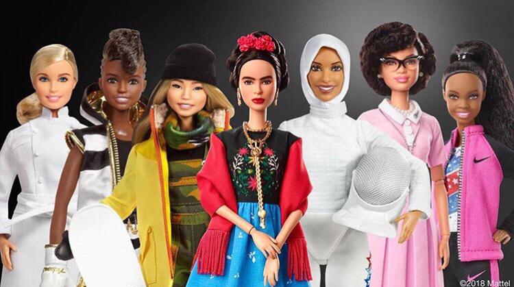 Barbie Role Models: Hélène Darroze, Nicola Adams, Chloe Kim, Frida Kahlo, Ibtihaj Muhammad, Katherine Johnson, Gabby Douglas