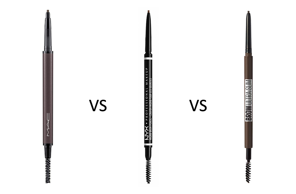 MAC, NYX and Maybelline eyebrow pencil