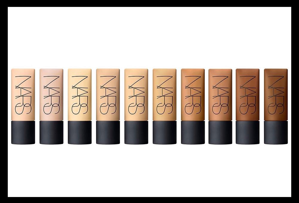 NARS Soft Matte Complete Foundation shades