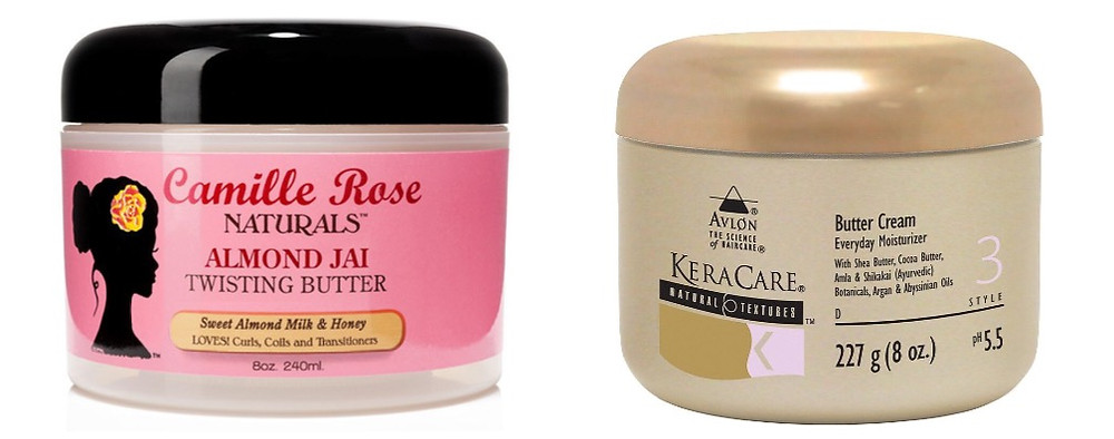 Camille Rose Almond Jai Twisting Butter and Kera Care Butter Cream Everyday Moisturizer