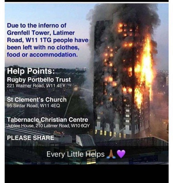 Grenfell Tower Help Points