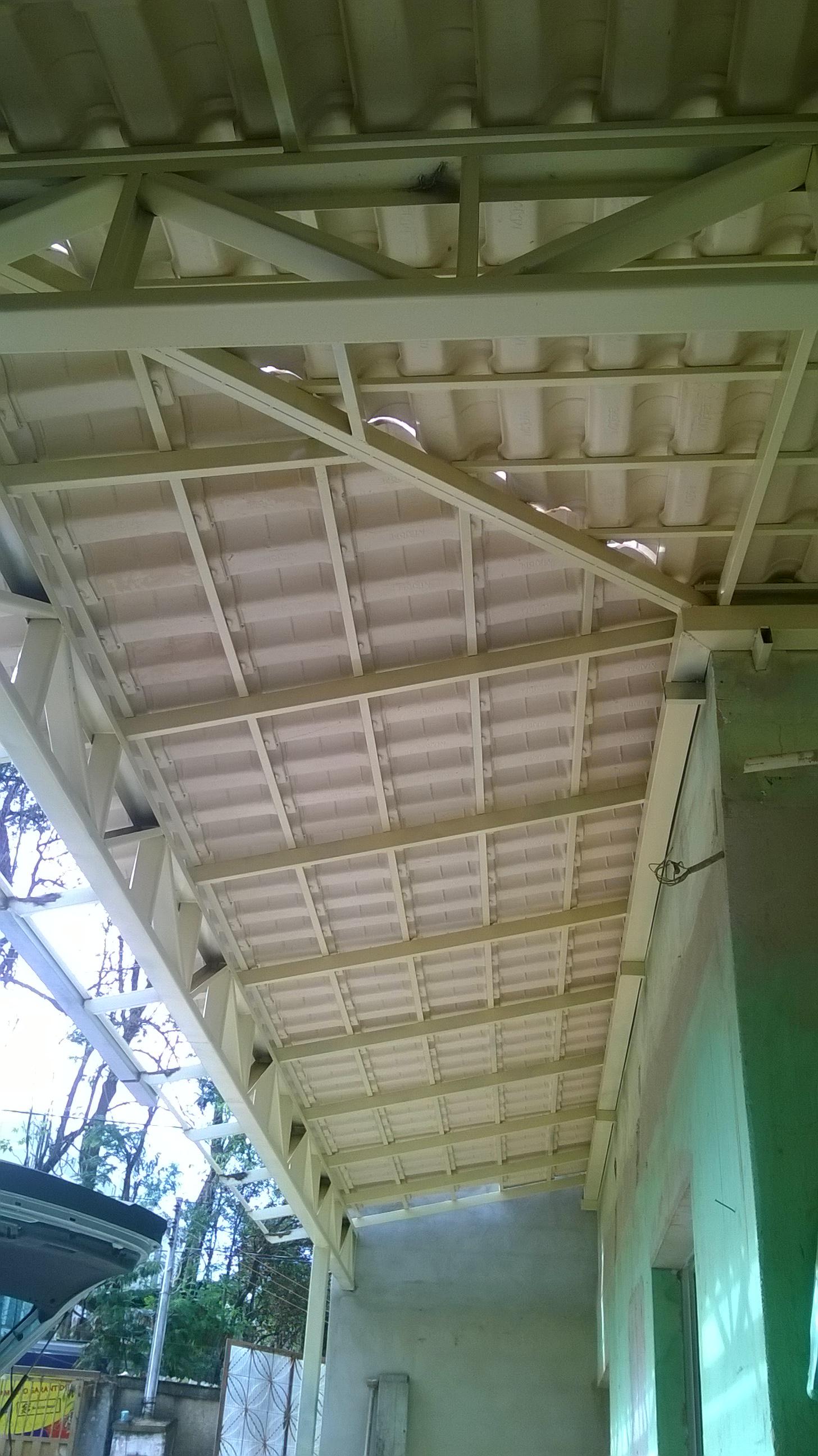 Execução de telhado na varanda