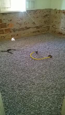 Drenagem e impermeabilização do piso