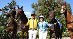 Will and Em with horses
