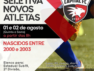 Capital FC realiza seletiva de novos jogadores antes do início das competições do segundo semestre