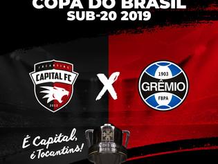 Capital FC representa o Tocantins na Copa do Brasil Sub-20