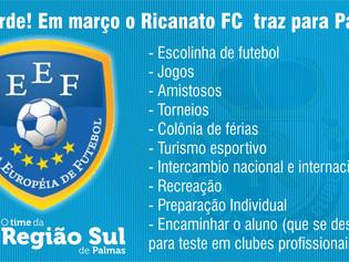 Ricanato F.C. inaugura novo modelo de escolinha de futebol neste sábado
