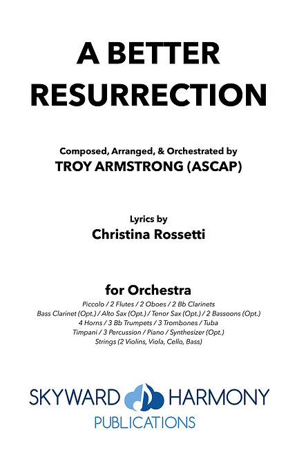 A Better Resurrection - Solo Voice (w/Orchestration)