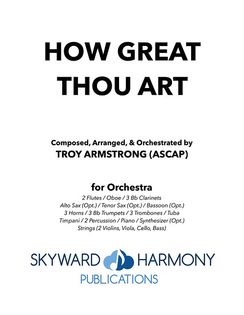 How Great Thou Art - for Orchestra