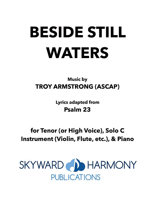 Beside Still Waters - For Solo Voice/C Solo Instrument/Piano