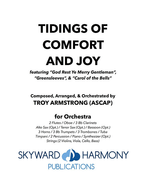 Tidings of Comfort and Joy - for Orchestra