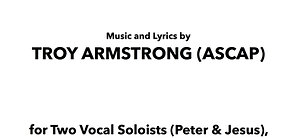 Walk on Water - 2 Vocal Soloists (Peter & Jesus)/SATB Chorus (w/Orch