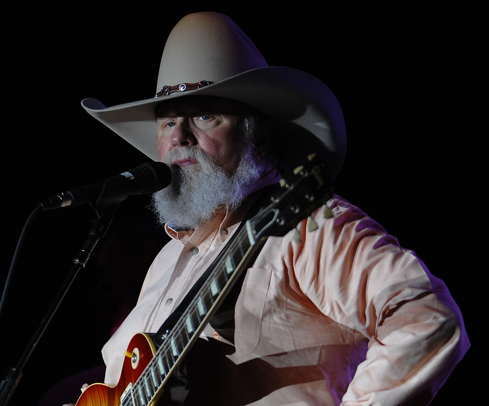 Charlie Daniels at Riverfront park, Louisville, Kentucky. His performance was part of the Derby Festival events leading up to the Kentucky Derby. Photo courtesy of Joe Schneid, Louisville, Kentucky.