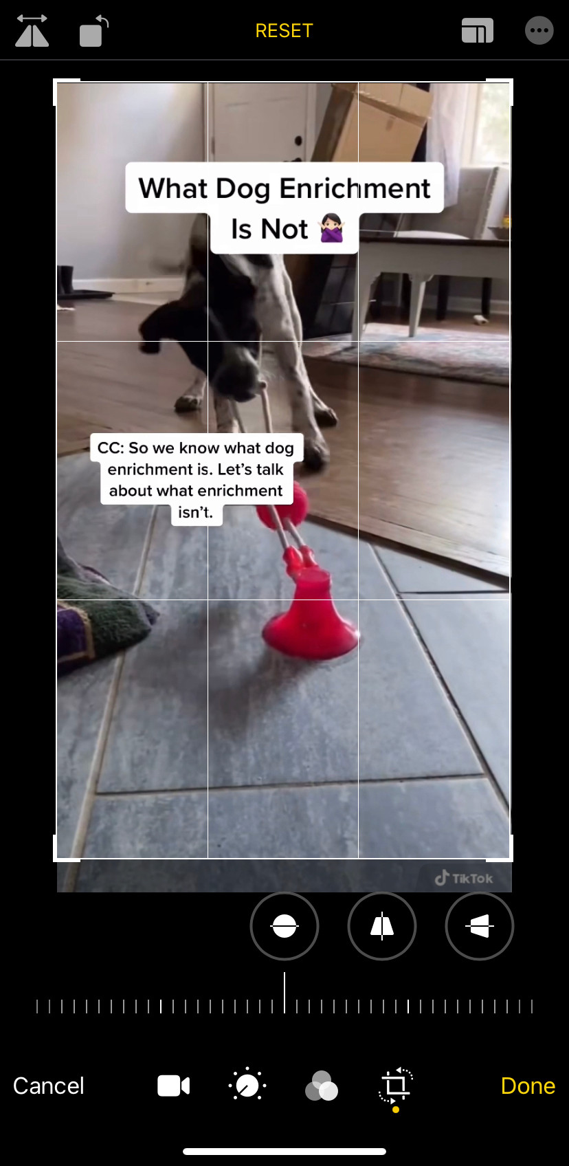 Edit your photo to crop out the bottom part of the video, which will take out the small watermark