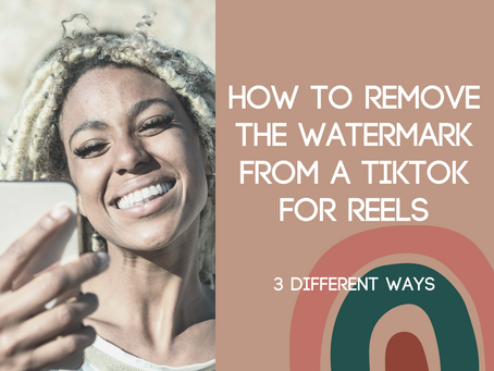 How to Remove the Watermark from a TikTok for Reels