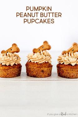 Pumpkin PB Pupcakes