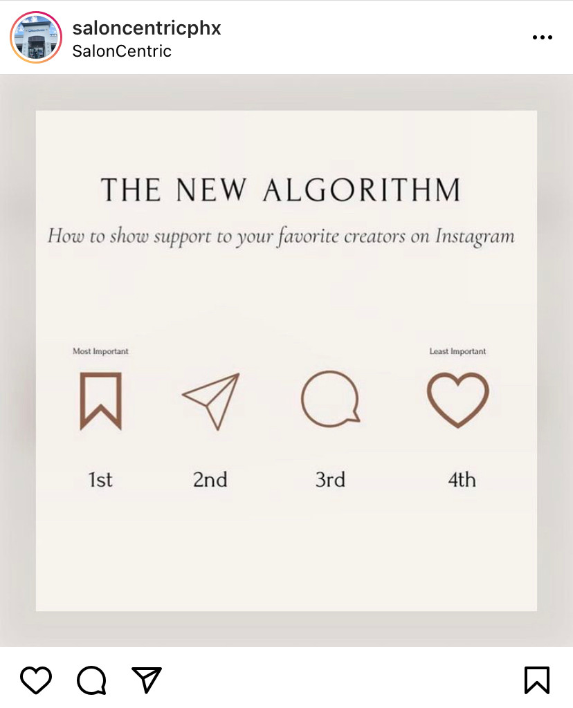 The New Instagram Algorithm. Saves and Shares are more important than Comments and Likes
