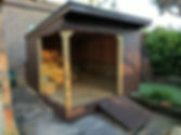 Shed to outdoor class convertion