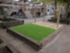 Artificial Grass and Stage Area