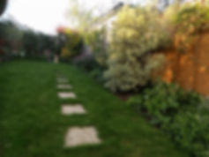 New Lawn and path