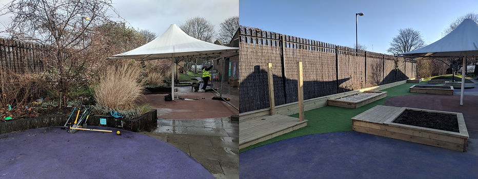Playground Before and After