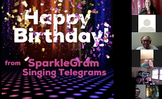 A Sparklegram Zoom Singing Telegram