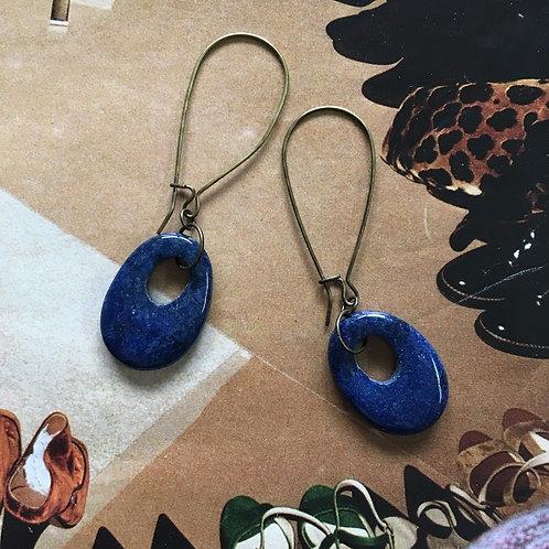 Lapis Stone Earrings