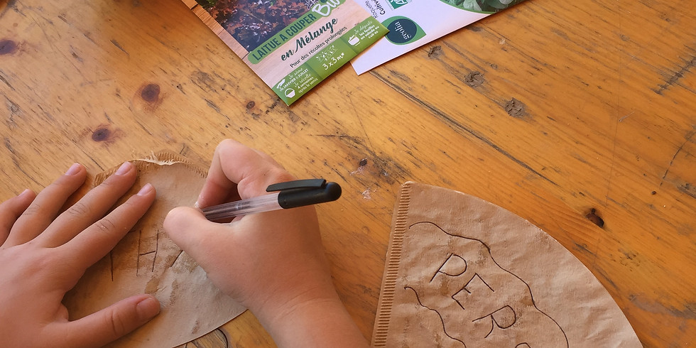 Atelier en famille - cartes à planter