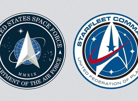 Trump revealed the logo for Space Force and it's just the Star Trek logo because of course he did