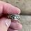 Thumbnail: Antique sterling silver floral design size 5 1/2