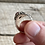 Thumbnail: Antique sterling silver dragon scale ring size 9 1/2