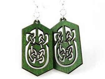 Celtic runic rectangle earrings