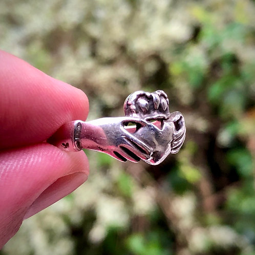 Sterling silver claddagh celtic Irish ring size 10