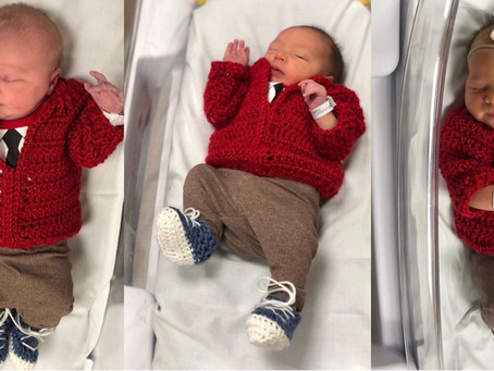 Newborns at Pittsburgh hospital dressed up as Mister Rogers to celebrate Red Cardigan Day