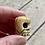 Thumbnail: Antique large hand carved skull bone bead