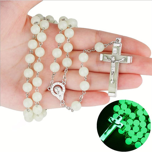 Unique glow in the dark rosary