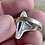 Thumbnail: Antique sterling silver onyx ring size 8