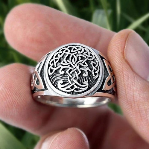 Tree of Life runic Celtic ring.