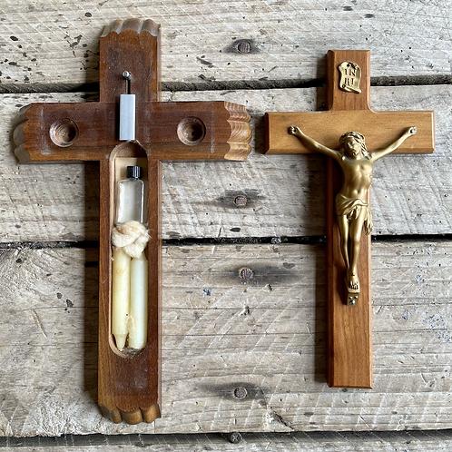 Antique Last Rites wall hanging crucifix rare