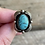 Thumbnail: Antique sterling silver turquoise ring size 5 1/2