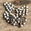 Thumbnail: Antique sterling silver glass bead rosary with rosary box