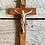 Thumbnail: Antique wood nun hospital crucifix